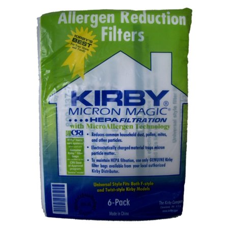 Vacuum Bass - Kirby Part#204808 / 204811 - Genuine Kirby Style F HEPA Filtration Vacuum Bags for Sentria Models - 6/Package, Sentria®,