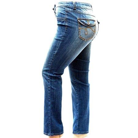 Jack David Womens Plus Size Blue Denim Jeans Pants Curvy Stretch Relaxed Fit
