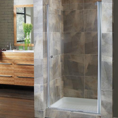 Hazelwood Home Brock 30.5'' x 65'' Pivot Frameless Shower Door