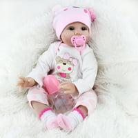 "22"" Reborn Newborn Baby Realike Doll Handmade Lovely Lifelike Silicone Vinyl Baby Doll Kids Toy Birthday Christmas Gift"