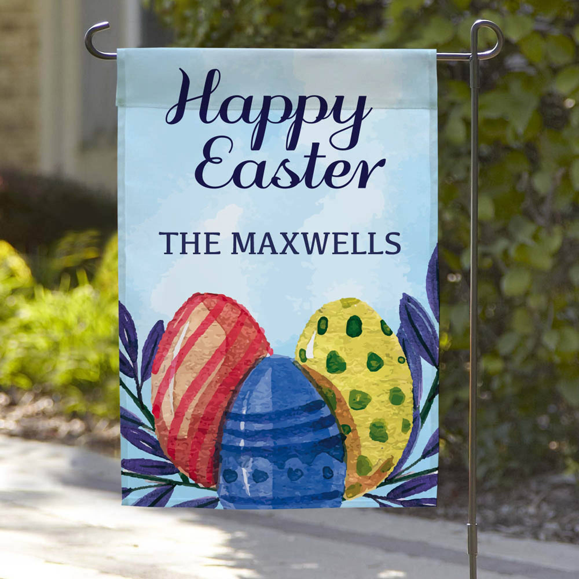 "Happy Easter Personalized Garden Flag, 18"" x 12"""