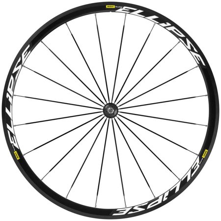 - Mavic, Ellipse, Wheel, Front, 700C, 20 spokes, Bolt-on