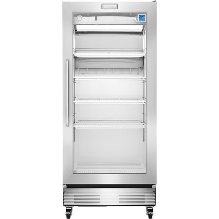 Fcgm181rqb 32 Commercial Food Service Grade Refrigerator With 18 4 Cu  Ft  Capacity  Dual Pane Argon Gas Filled Glass Display Door  Heavy Duty Casters  And Energy Star Qualified In Stainless Steel