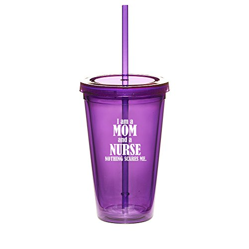 Nurse Mom Boss Cold Drink Tumbler with Straw
