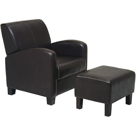 Metro Chair And Ottoman  Espresso