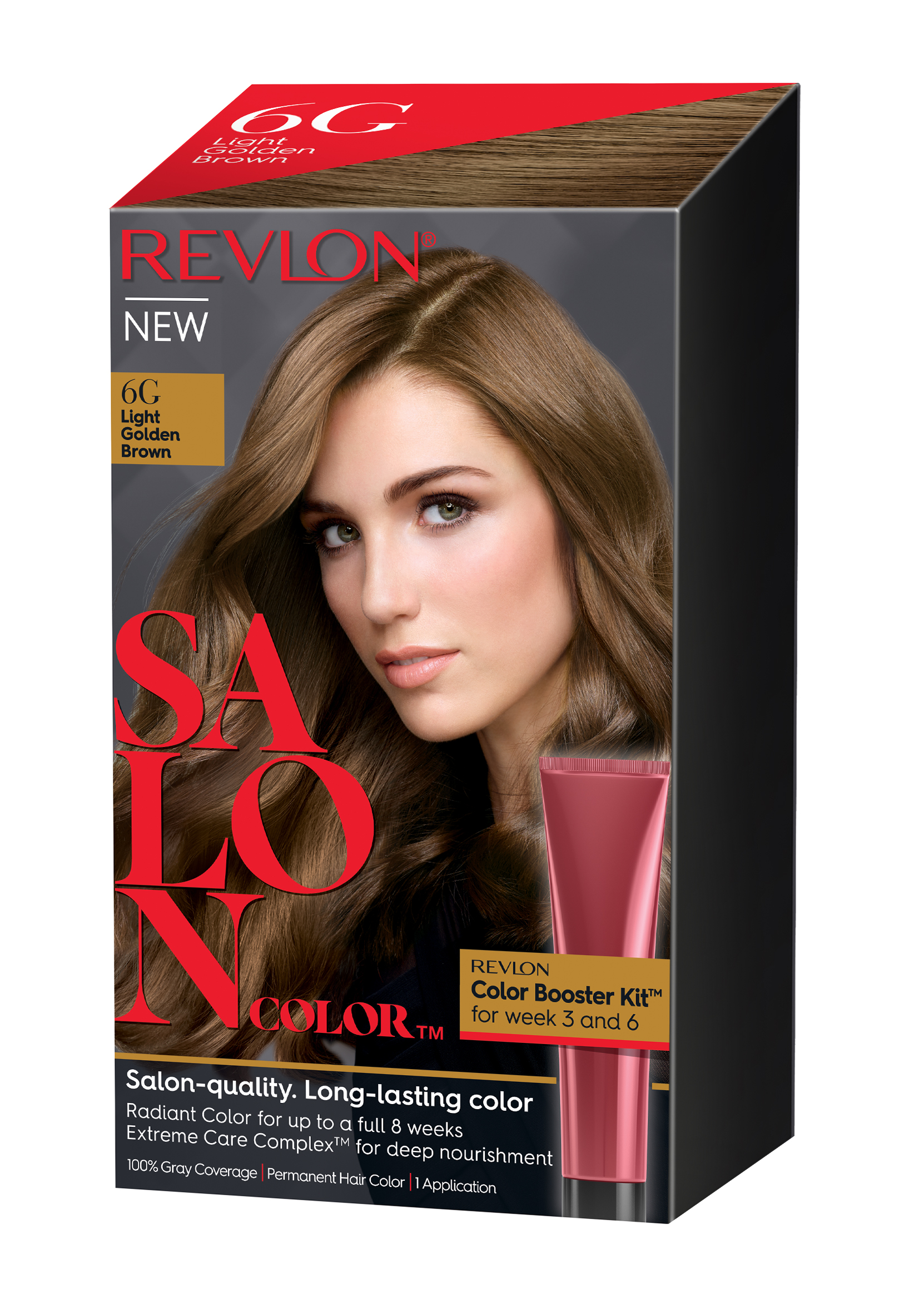 Revlon Salon Hair Color Light Golden Brown 1 Application Walmart