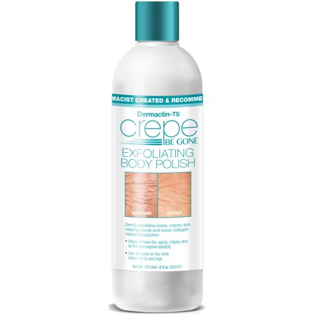 Dermactin-TS Crepe Be Gone Exfoliating Body Polish, Gently Exfoliates Loose Dry & Crepey Skin, Improves Elasticity, Plumps & Boosts Natural Collagen Production 6 oz