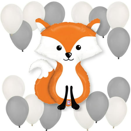 Grey Latex Balloons (Fox Balloon Kit)