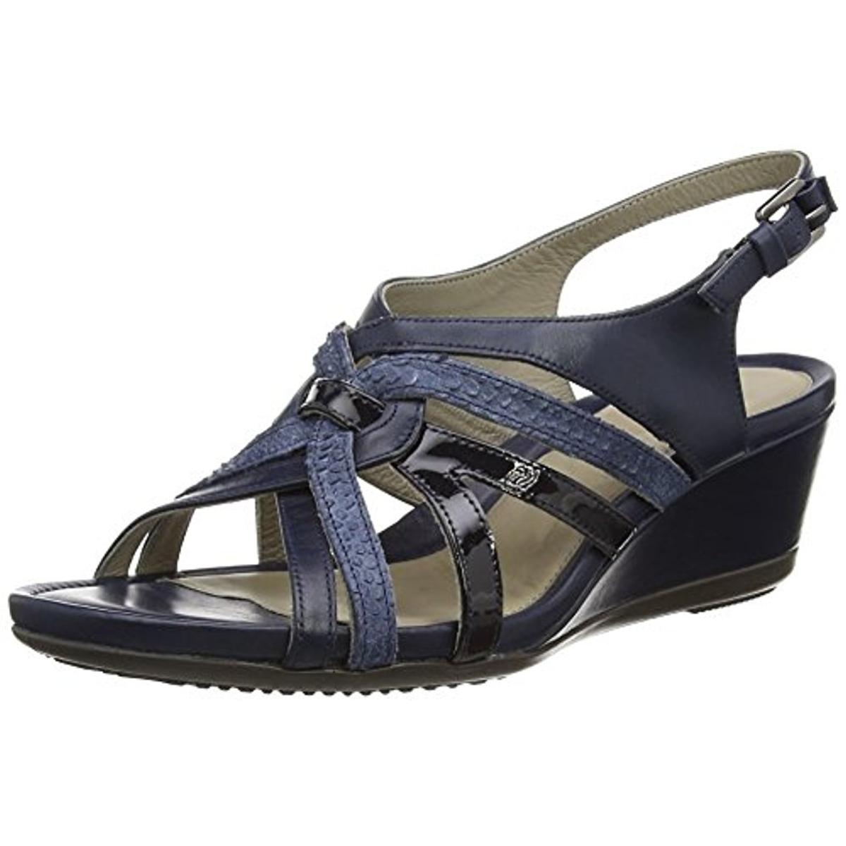 ECCO Womens Leather Slingback Wedge Sandals by Ecco