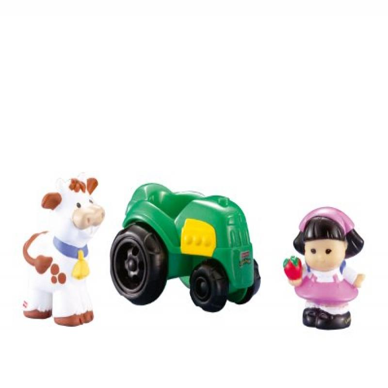 Fisher Price Little People Sonya Lee with Tractor and Cow...