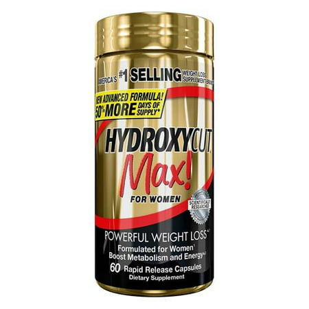 Hydroxycut Max Powerful Weight Loss Rapid Release Liquid Capsules For Women, 60