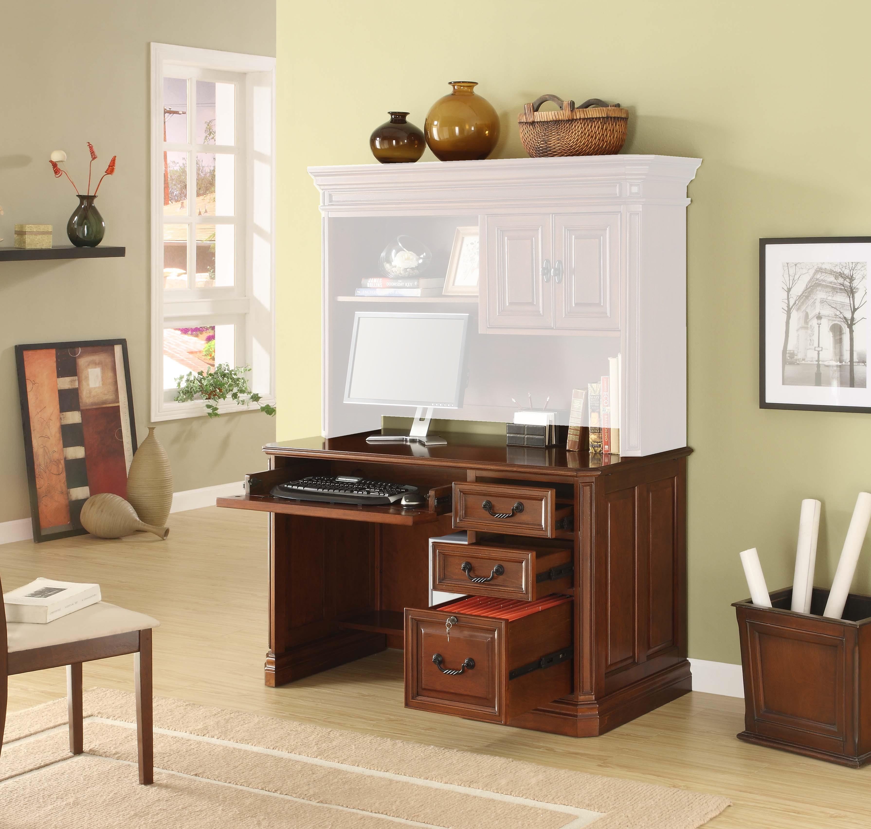 "WHALEN Augusta 54"" Computer Desk-Option:Without Hutch"