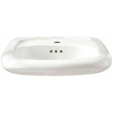 0955.001EC.020 Murro Wall Mounted Lavatory with Single Faucet Hole and Everclean Surface, White
