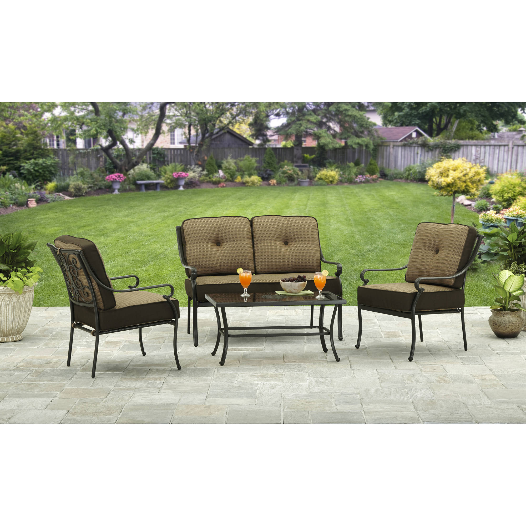 Better Homes and Gardens Bailey Ridge 4 Piece Outdoor Conversation ...