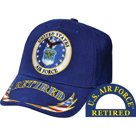 United States Air Force Retired Proudly Served Blue Hat Cap