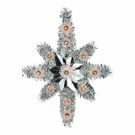 Northlight seasonal 31576638 11 in lighted silver tinsel star of northlight seasonal 31576638 11 in lighted silver tinsel star of bethlehem christmas tree topper clear lights mozeypictures Image collections