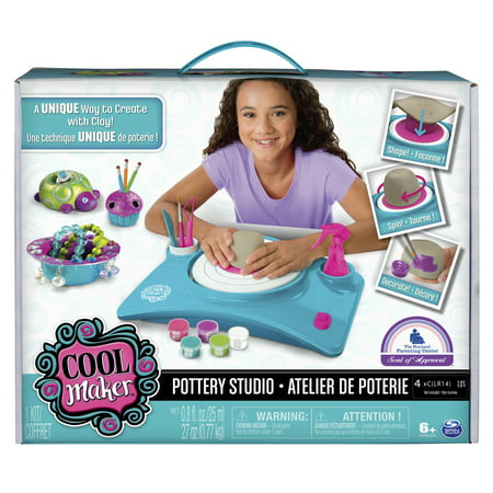 Cool Maker Pottery Studio, Clay Pottery Wheel Craft Kit for Kids Age 6 and (Clay Lid)