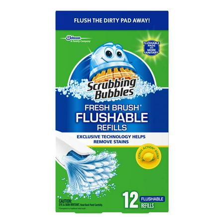 (Scrubbing Bubbles@Fresh Brush FLUSHABLE REFILL(Tray) - 12ct)