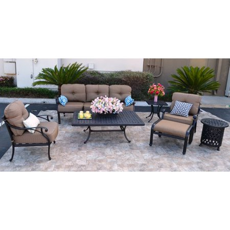 Peachy Darby Home Co Nola 7 Piece Sunbrella Sofa Set With Cushions Download Free Architecture Designs Xaembritishbridgeorg
