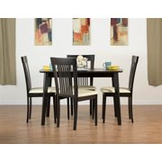 Dayton Dining Table Set with Hartford Dining Chairs in Coffee