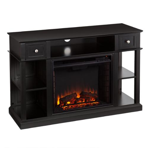 Harper Blvd  Nixon Black Media Console/ Stand Electric Fireplace