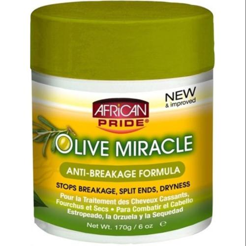 African Pride Olive Miracle Anti-breakage Formula, 6 oz (Pack of 2)