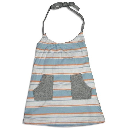 Dinky Souvenir - Baby Girls Stripe Halter Top Blue Stripe / 6-12Months