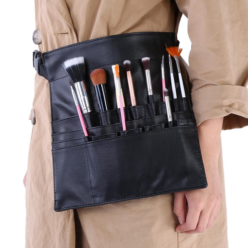 d5bd8293b19 Yosoo Professional Black PU Cosmetic Makeup Brushes Holder Organizer Waist  Bag Case Pouch, Cosmetic Brush Pouch, Makeup Brush Organizer - Walmart.com