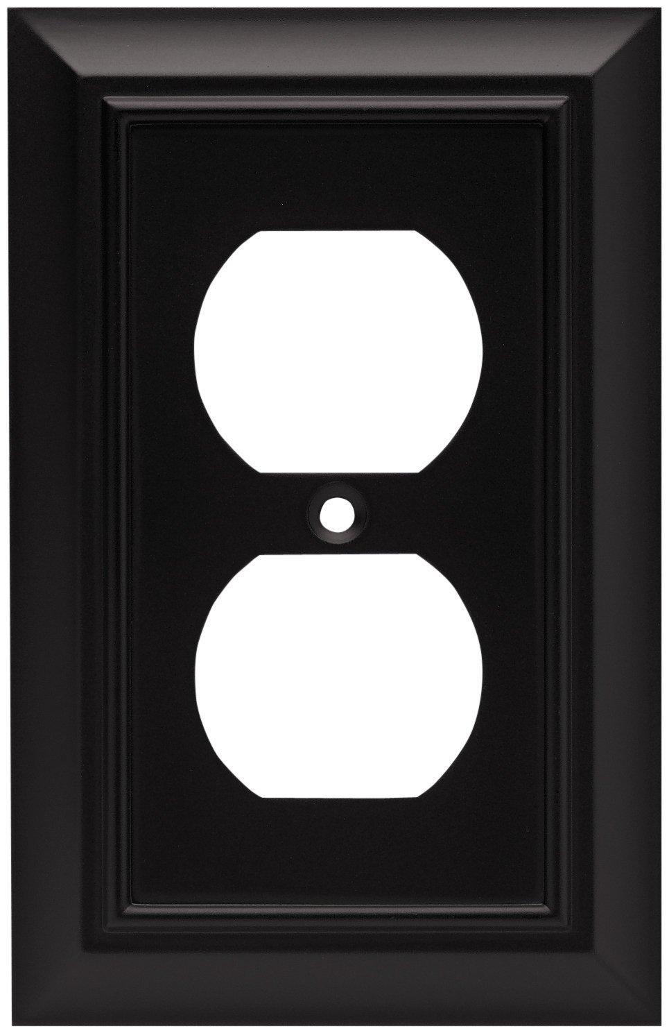 64218 Architectural Single Duplex Outlet Wall Plate Switch Cover Flat Black By Brainerd Ship From Us