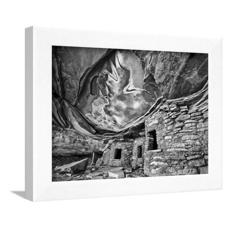 Anasazi Granary, Cedar Mesa, Utah, USA Framed Print Wall Art By John Ford