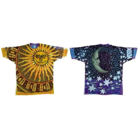 Nature-Sun Moon Tie Dye Apparel T-Shirt - Tie Dye (Dye Clothes)
