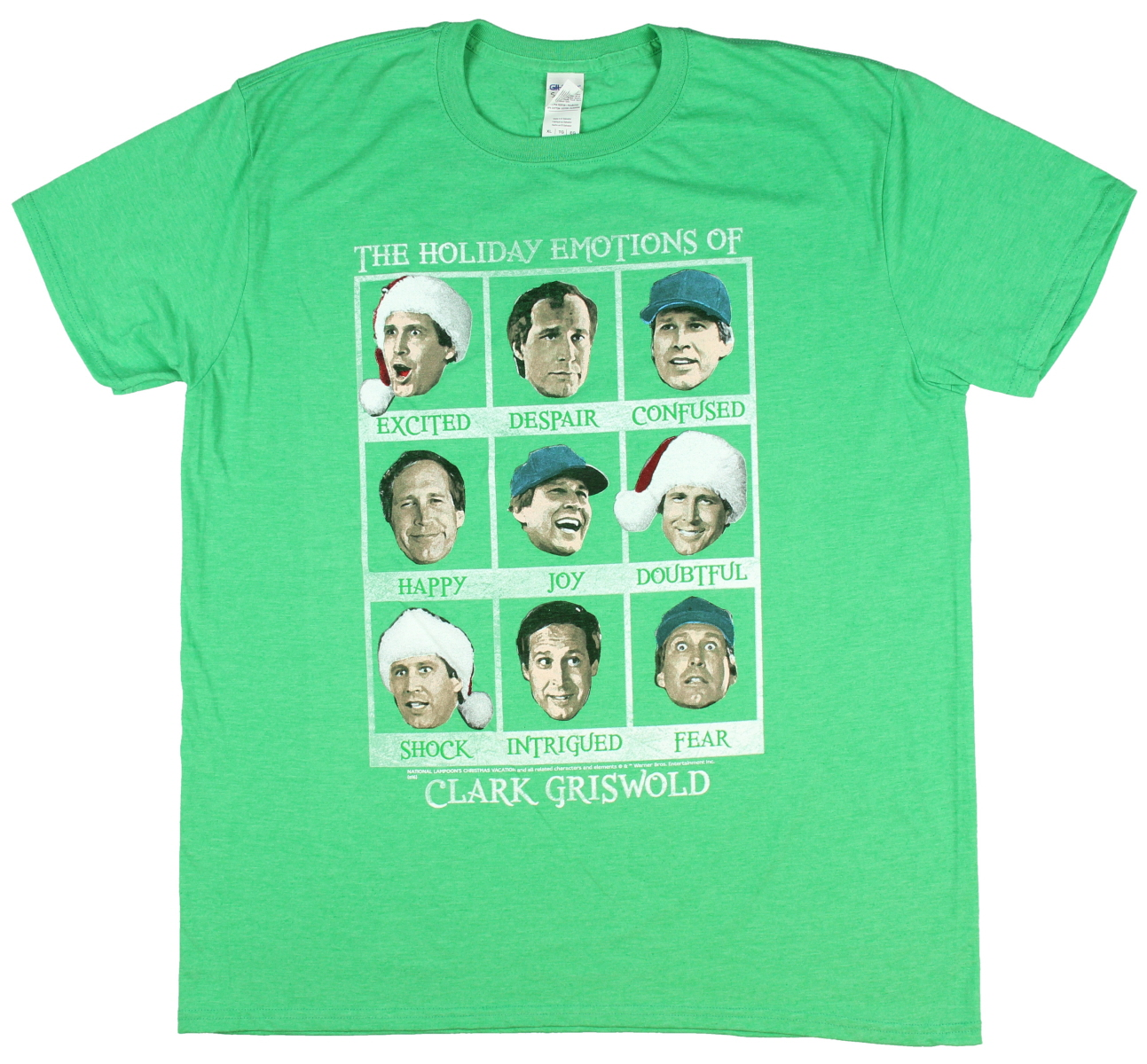 Christmas Vacation The Holiday Emotions of Clark Griswold Men's T-Shirt