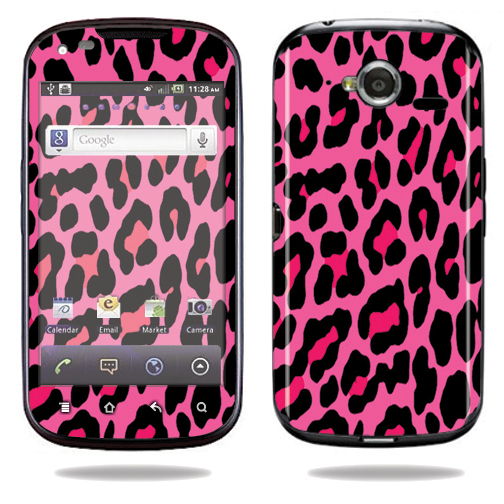 Mightyskins Protective Vinyl Skin Decal Cover for Pantech Burst P9070 Cell Phone At&t wrap sticker skins Pink Leopard