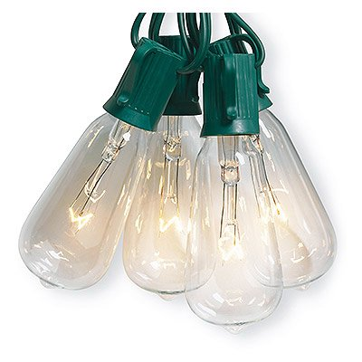 Noma Party String Lights : Noma/Inliten-Import V51587 Christmas String Light Set, Edison Bulb, Clear, 10-Ct. - Walmart.com
