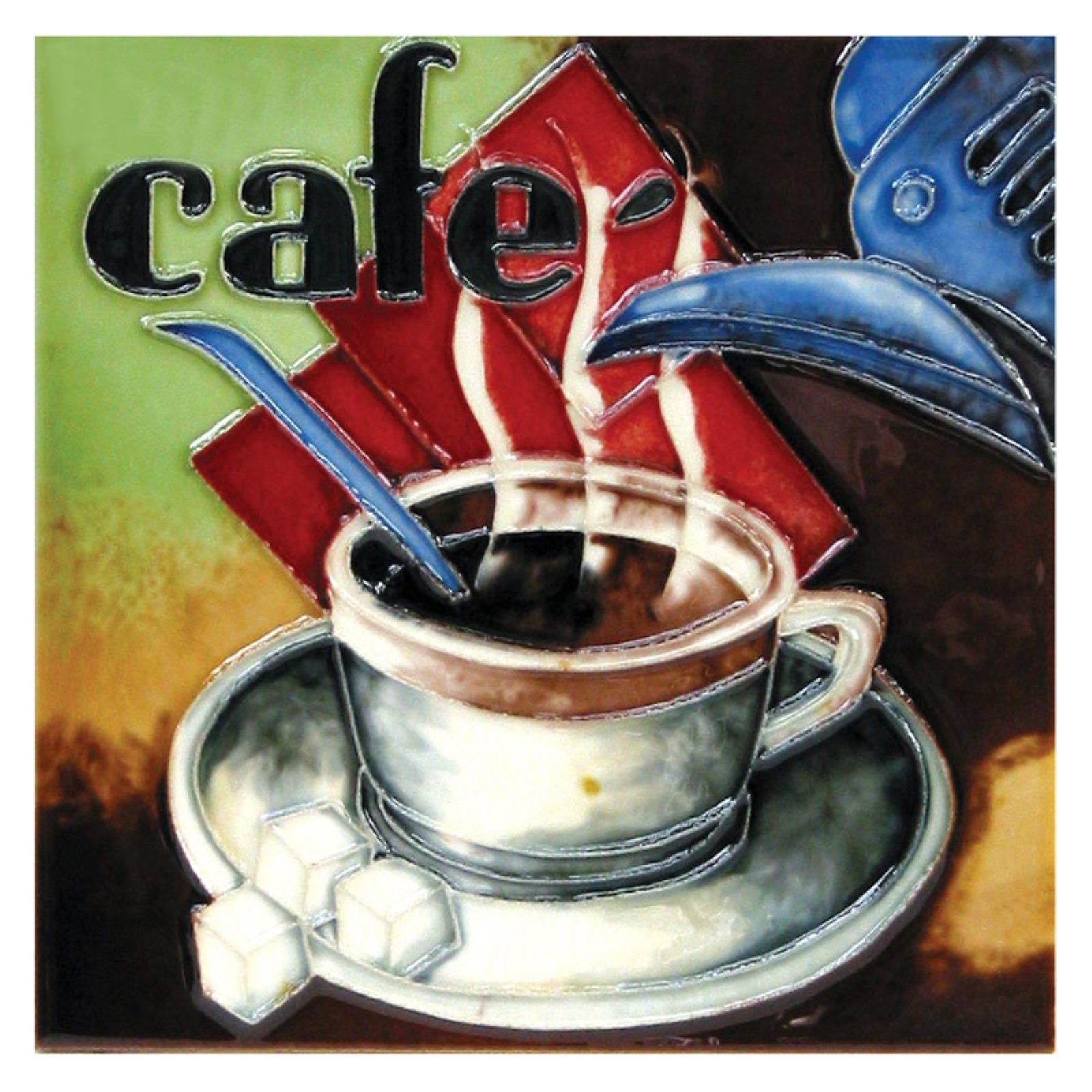 Continental Art Center Art Tile - Coffee Cup