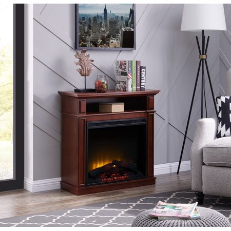 Bold Flame 32 inch Infrared Electric Fireplace in (Lifesource Tabletop Infrared Heater With Flame Effect)