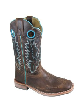 "Smoky Mountain Women's Marianna 10"" Brown Waxed Leather Western Boot 6064"