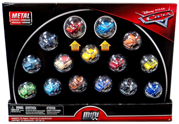Disney Cars Die Cast Mini Racers Variety Car 15-Pack [with Rusteze McQueen & Intro Ramone] by