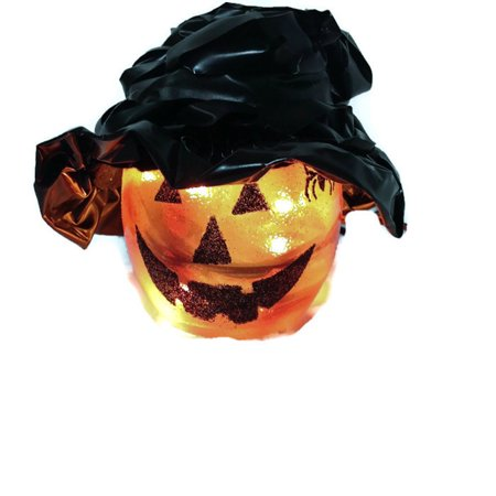 "Stony Creek - Orange Glass - 3"" Lighted Jack O"