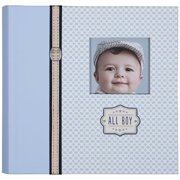 C.R. Gibson Slim Bound Photo Journal Album, All Boy Multi-Colored