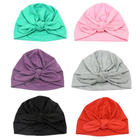 Baby Cotton Turban Knot Soft Bunny Ear Hat Head Wrap Knot Headband Newborn Kids