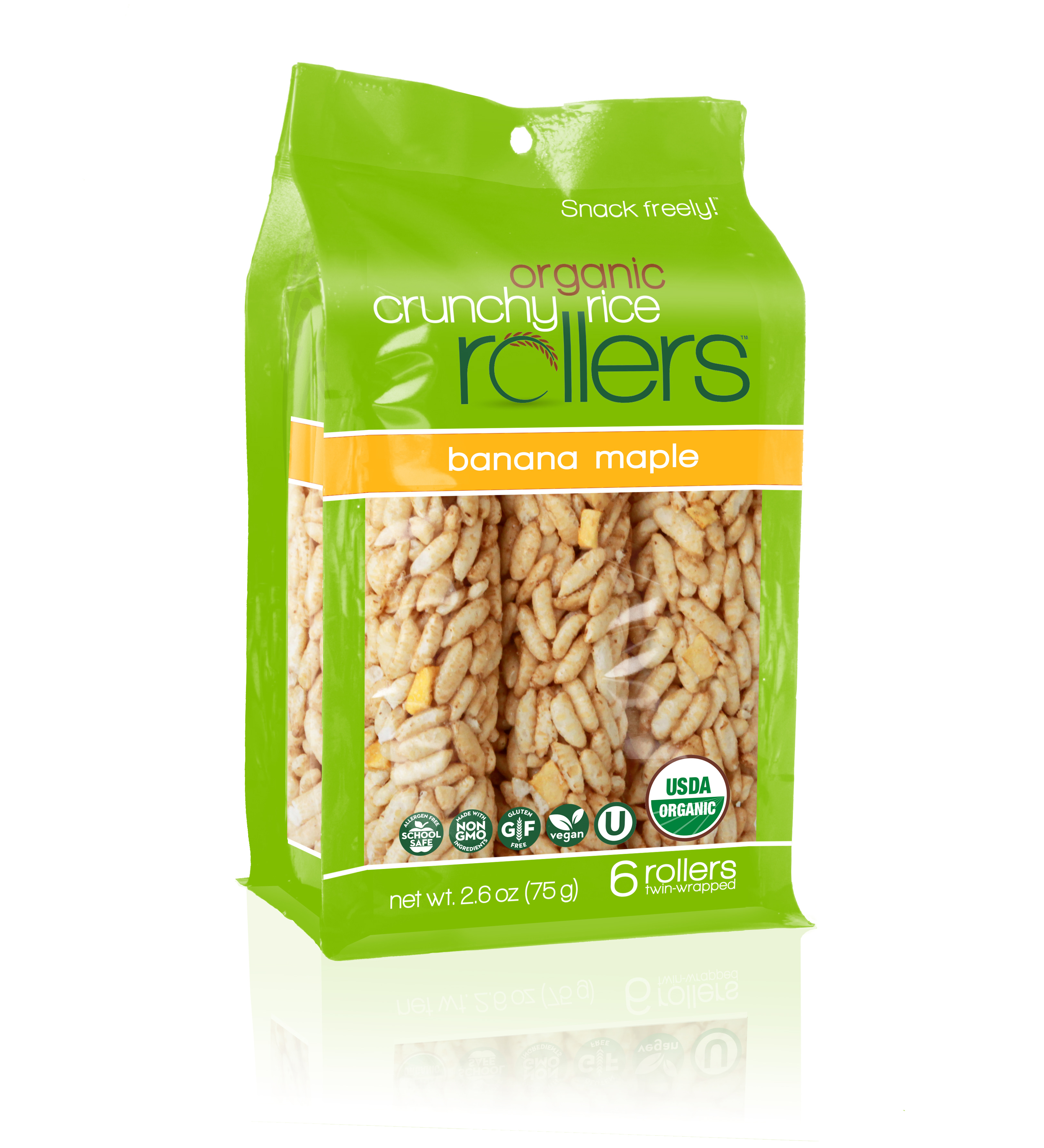 (3 Pack) Crunchy Rice Rollers, Banana Maple, 6 Ct