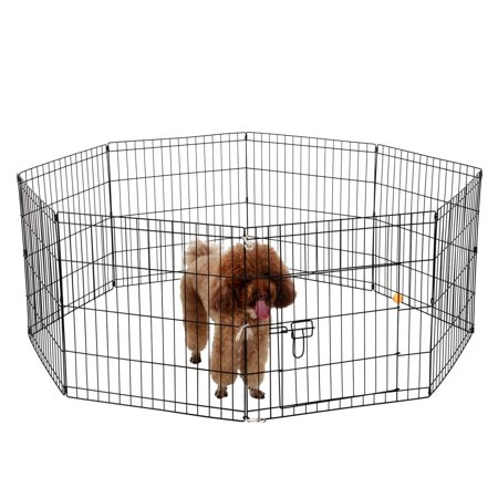 Ollieroo Dog Playpen With Door Exercise Pen Pet Fence Cage 8 Panel