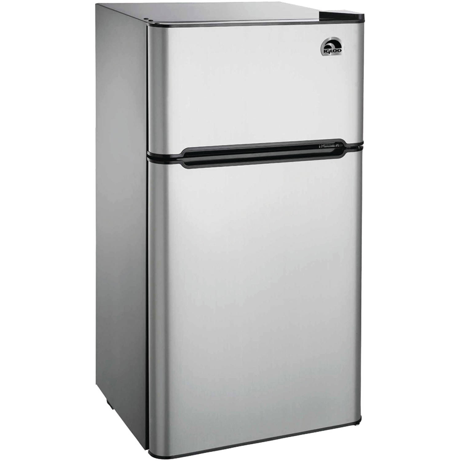 Igloo 4.5 cu ft 2-Door Refrigerator, Stainless Steel