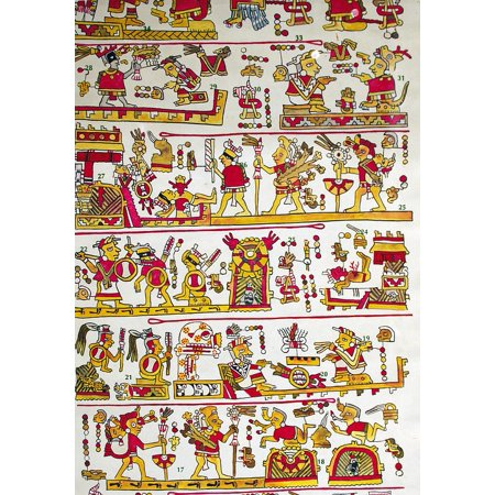 Framed Art for Your Wall Fabric Image Mexico Aztec 10x13