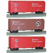 Accurail 8072 HO Great Northern 40' Plug-Door Steel Boxcar 3 Car Set