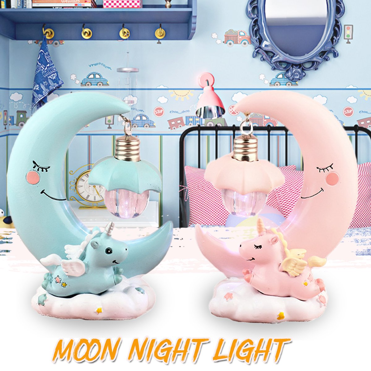 3d Resin Led Moonlight Night Light Bedroom Bed Romantic Kids Girl Gift Decor Kids Bedroom Walmart Canada