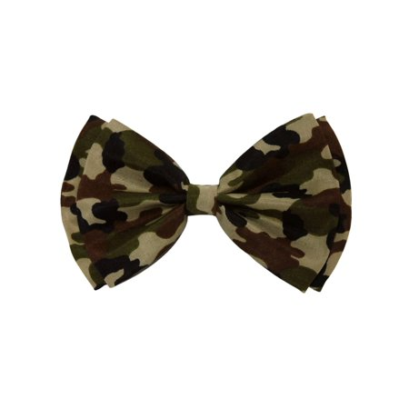 Bow Tie Green Military Camouflage 4.3 inches - Glitter Bow Tie
