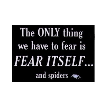 - SNORGS,THE ONLY Thing To Fear Is Fear Itself & Spiders, Officially Licensed, 3.5