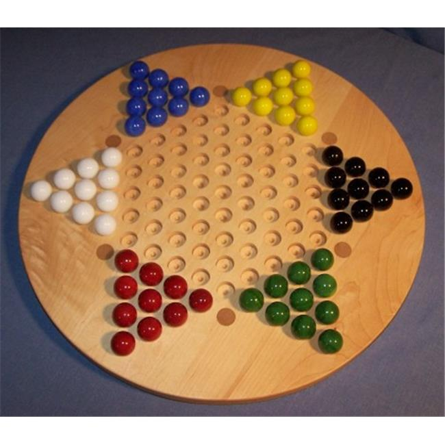 Charlies Woodshop W-1931alt.-1 Wooden Marble Game Board - Hard Maple with 6 Birch Inlaid Spots